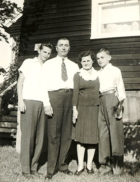 Frank, Mike Sr, Anna and John Nemesh.